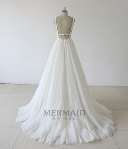 Image 3 - Backless heavy beading lace wedding dress 2019
