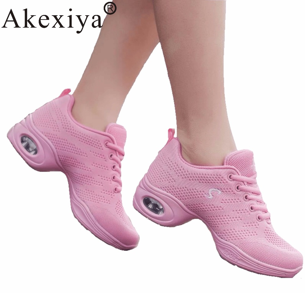 Akexiya Girls Fitness Dance Shoe Air Cushion Dancing Sneakers Pink Breathable Mesh Fly Weave Jazz Dance Shoes Women Sport ShoesAkexiya Girls Fitness Dance Shoe Air Cushion Dancing Sneakers Pink Breathable Mesh Fly Weave Jazz Dance Shoes Women Sport Shoes