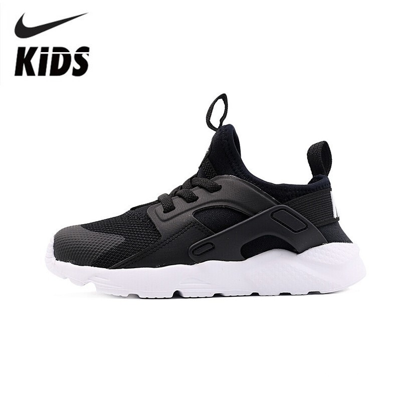 super popular lower price with popular brand Nike Huarache Run Ultra 2019 Original Children Running Shoes Breathable  Light Sports Kids Shoes #859594-020