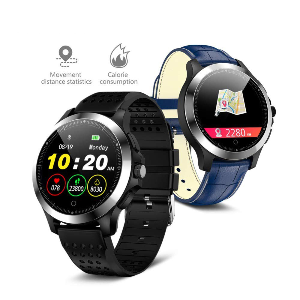 ECG PPG Smart Watch 1.22 inch Men's Business Casual Smartwatch Heart Rate Blood Pressure Monitor Call Message Reminder Bluetooth
