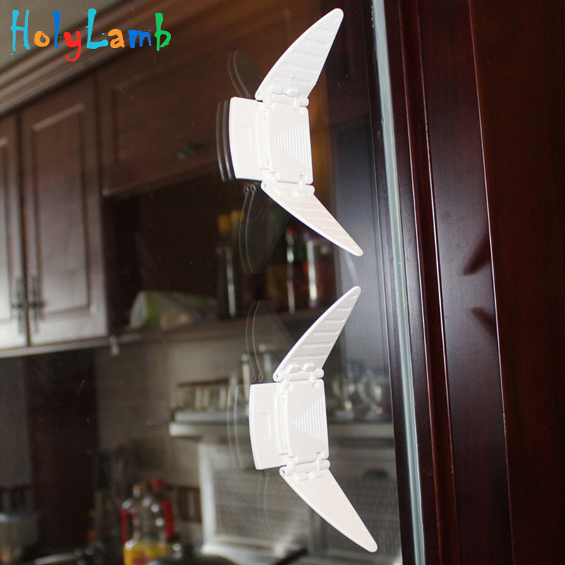 2Pcs/Lot Wing Sliding Window Lock Window Protection Child Protection <font><b>Baby</b></font> Safety <font><b>Proof</b></font> Securite Window Limiter From Children image