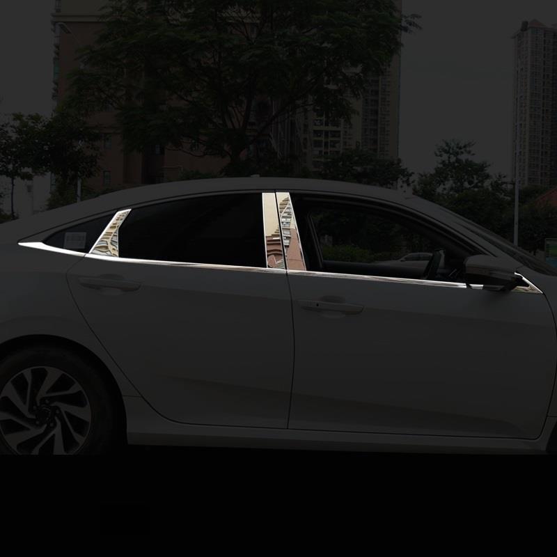 Körper Fenster außen Excent geändert automobil auto styling dekoration abdeckungen protecter trim teile 16 FÜR Honda Civic