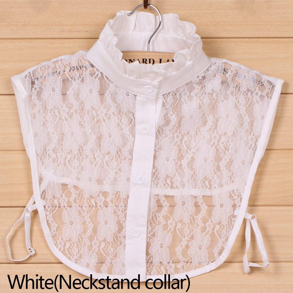 Women Lace Fake Collar Detachable Lapel Choker Necklace Shirt Fake False Collar Lapel Blouse Top Women Clothes Accessories