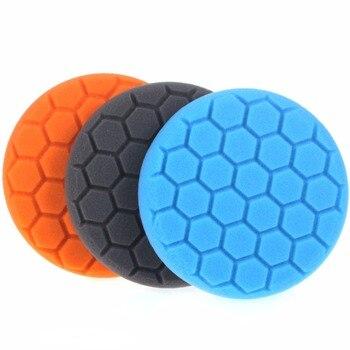 цена на 3Pcs 3/4/5/6/7 Inch Buffing Sponge Polishing Pad Kit Set For Car Polisher Buffer 003
