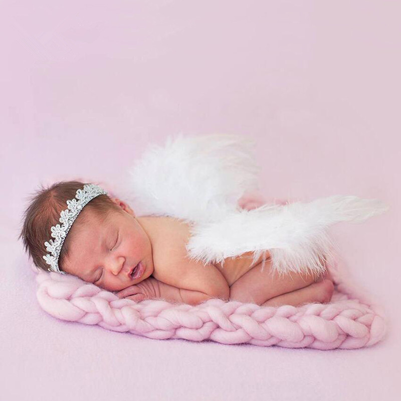 Newborn Photography Props Milk Cotton Blanket 40x50cm Photography Newborn Blankets Cushion Baby Photo Props Accessories Carpet