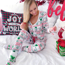 hirigin Family Matching Pajamas Set Women Baby Kids Santa Sleepwear Long  Sleeve 1e1d3dfc5