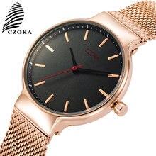 CZOKA Quartz Watch Women Stainless Steel Bracelet Movement Casual Wrist Female Watches For Woman Wrist Watch Relogio Feminino цены онлайн
