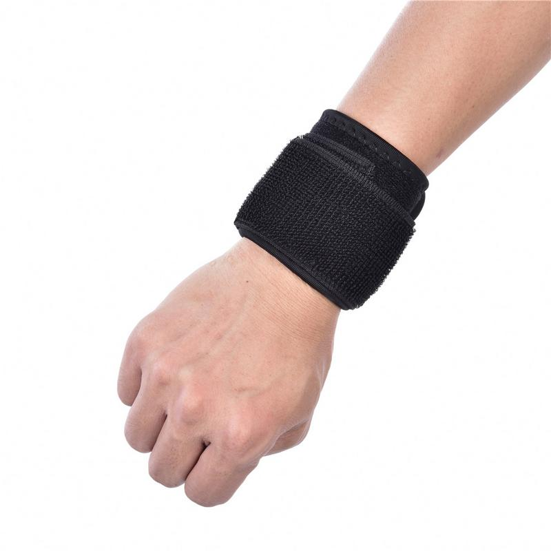 New Fitness Bandage Pressure Wrist Protection Strap Weightlifting Power-Assisted Belt Adjustable Black Baseball Wrap