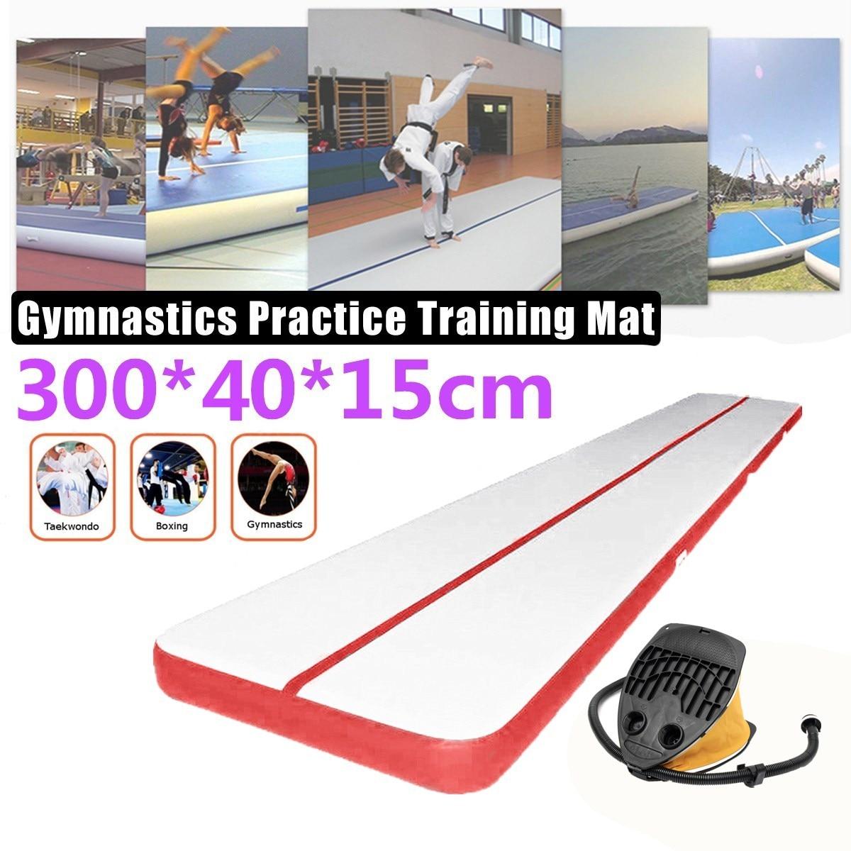 300*40*15 cm gonflable flottant Airtrack tapis de gymnastique Air Tumbling gonflable GYM Air piste tapis - 6
