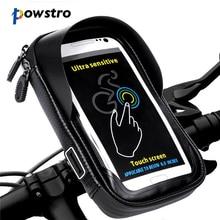 Универсальный велосипедный держатель для телефона Powstro, водонепроницаемая подставка для IPhone X, 8 Plus, S8, V20, GPS, сумка на руль велосипеда