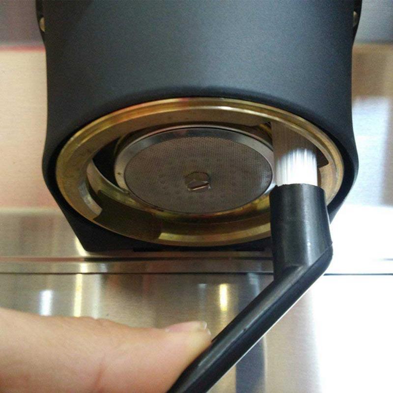 Домашняя щетка для пыли для эспрессо, щетка для очистки кофе, пластиковая ручка, щетка для клавиатуры, инструменты для очистки, кухонные при...