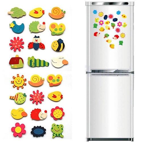 Haus & Garten Geschickt 12 Teile/satz Zufällig Kühlschrank Magnete Baby Nette Kühlschrank Magnet Holz Cartoon Tier Kind Pädagogisches Spielzeug Kühlschrankmagnete