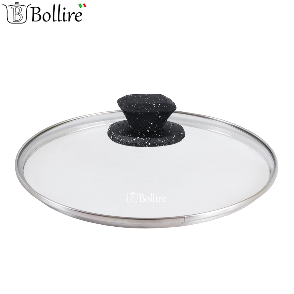 Cookware Parts BOLLIRE BR-1023 cover for frying pan covers glass portable silicone pp oil cleaning scraper for frying pan yellow white