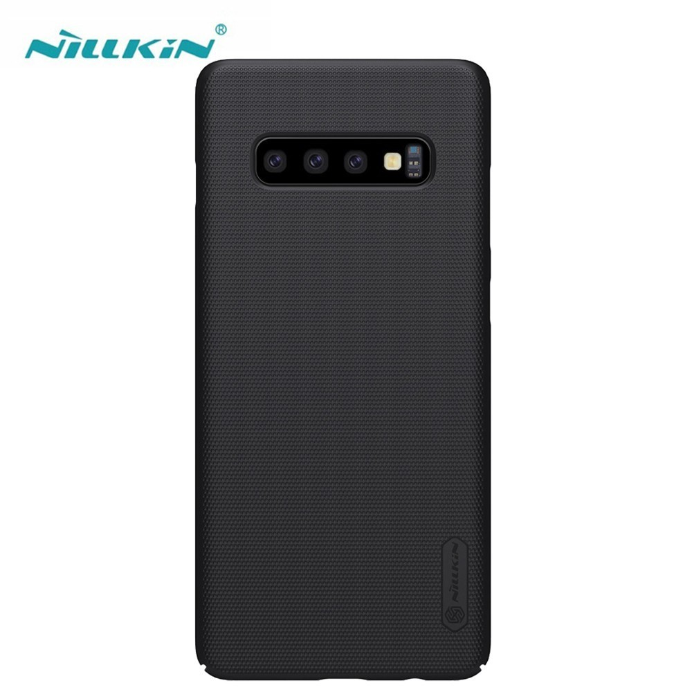 For Samsung Galaxy S10 / S10+ Plus Case NILLKIN Super Frosted Shield hard back cover case For Samsung S10e case+phone standFor Samsung Galaxy S10 / S10+ Plus Case NILLKIN Super Frosted Shield hard back cover case For Samsung S10e case+phone stand