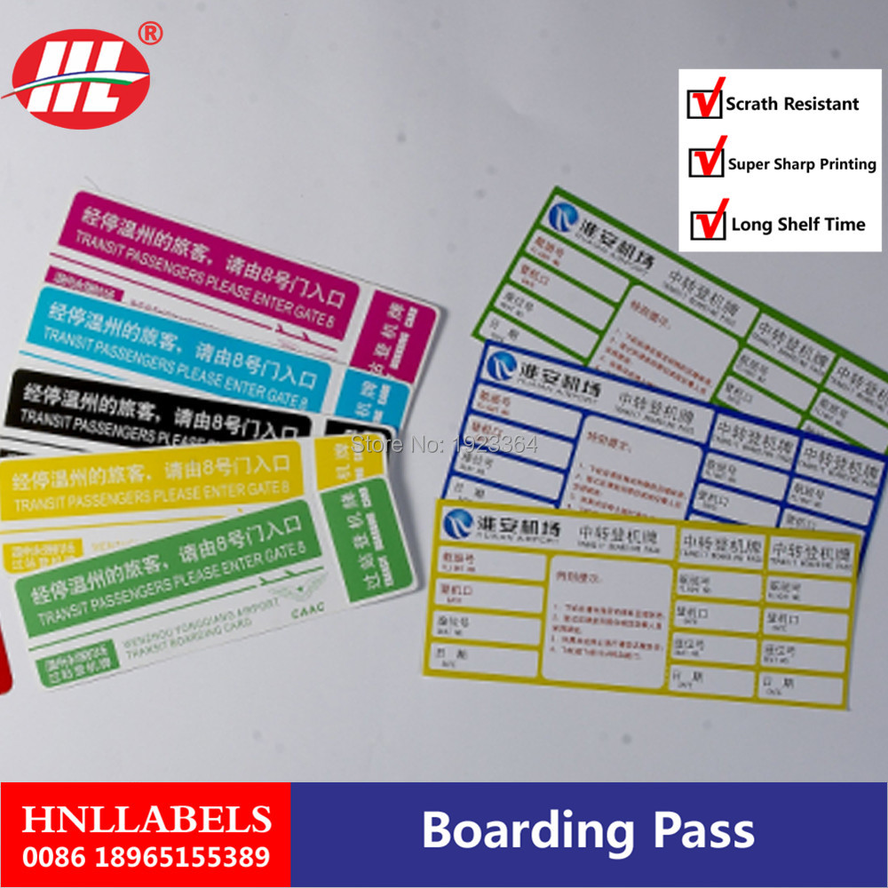 Airline Boarding Pass ,paper
