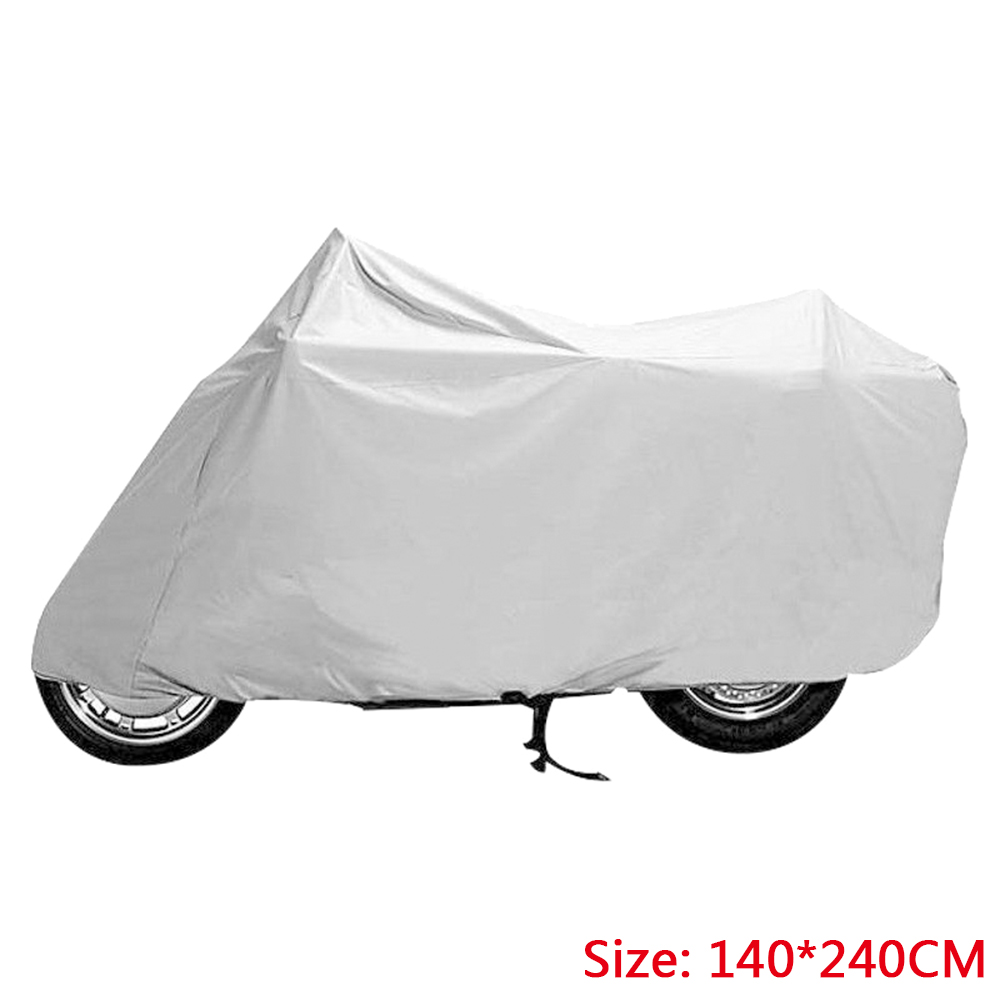140*240cm Motorcycle Cover Waterproof Street Bike Outdoor Rain Dust Coat UV Scooter Pro Durable Protective Covering140*240cm Motorcycle Cover Waterproof Street Bike Outdoor Rain Dust Coat UV Scooter Pro Durable Protective Covering