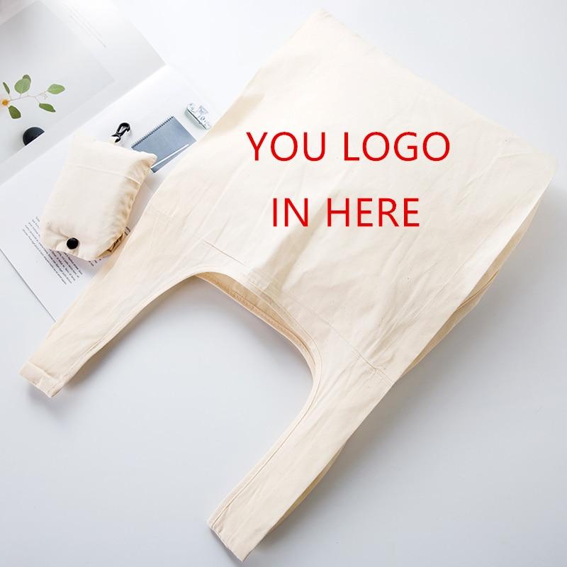 Pure White Foldable Cotton Fashion Plaid Shoulder Tote Handbag Eco Shopping Large Capacity Canvas Purse Pouch