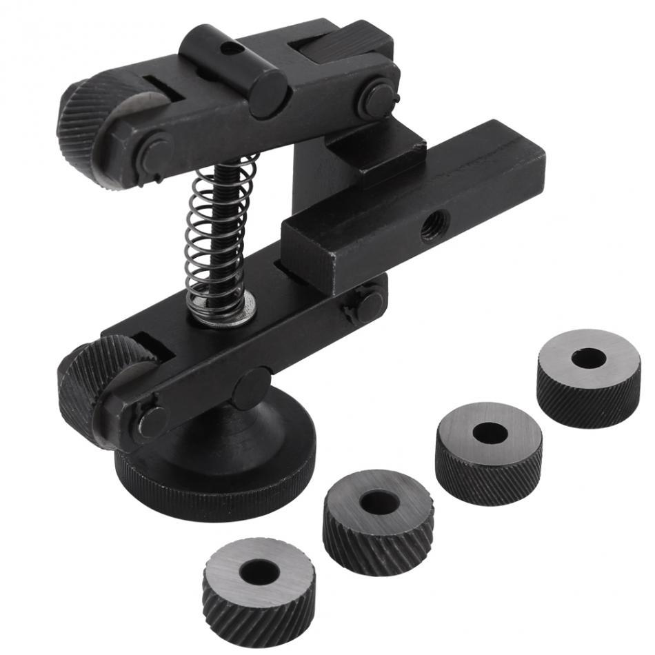 1 pcs Knurling Knurler Tool Holder Linear Knurl Tool Lathe Adjustable Shank with Wheel Tools