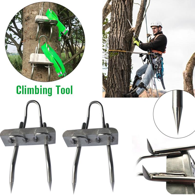 Tree Climbing Tool Pole Climbing Spikes for Hunting Observation Picking Fruit Stainless Steel Climbing Tree