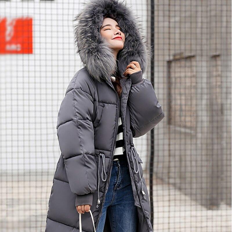 Longue Anti Nouveau blanc Lâche Veste Le Version Coton Vêtements De Femelle Green Nitree army Coréenne marron gris saison Rembourré Manteau Épaississent Noir La D'hiver C7qwg85x