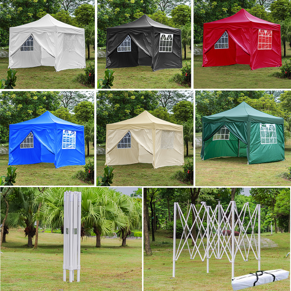 Panana Waterproof 3x3 M Pop Up Gazebo Marquee Home Garden Awning Party Tent Camping Canopy Steel Frame