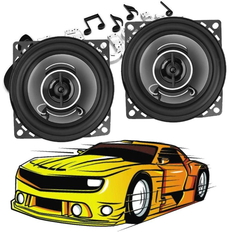 VODOOL 2Pcs 4 inch 350W Car Speaker Auto Car Coaxial Speakers Replacement Audio Car Music System Louder Speakers Araba Hoparlor