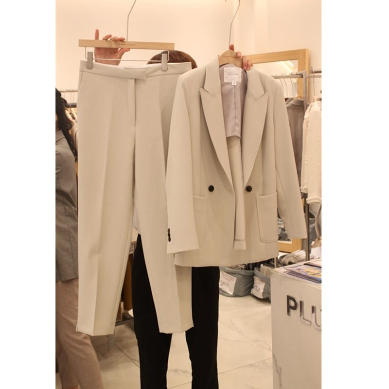 Suit Casual Suit Female 2020 Spring And Autumn New Korean Version Was Thin And Small Suit Temperament Small Fragrance Two-piece