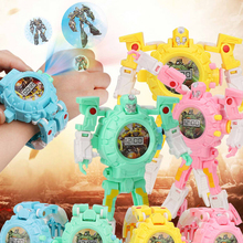 MagiDeal Kids Electronic Transforming Watch, 3 in