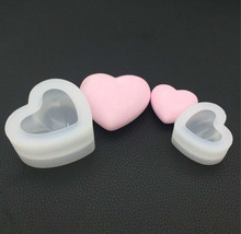 3d Heart Shape Silicone Mold Aroma Ceramic Gypsum  Plaster Mould For Car Decoration Concrete Candle Epoxy Resin Tools