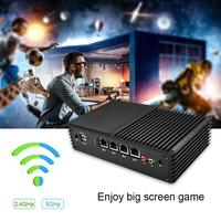 Mini PC Celeron Linux Pfsense 4 Ethernet LAN Ports Router 2955U Dual Core 1.4GHZ Firewall Network Server EU Plug