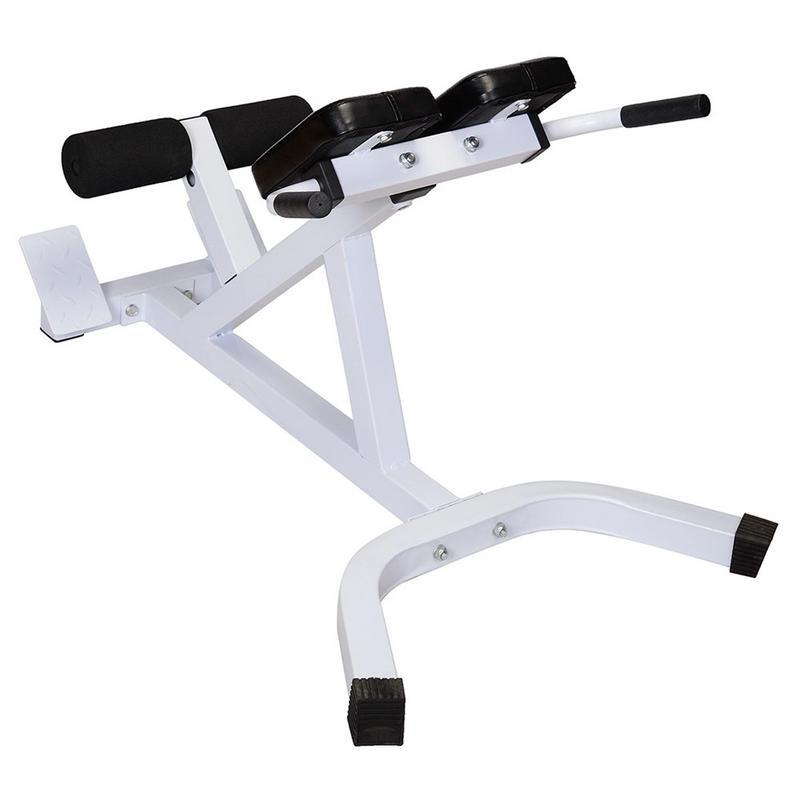 Redelijk N-027 Terug Hyperextensie Bench Romeinse Stoel Wit Zwart Goede Kwaliteit Nuttig Apparatuur