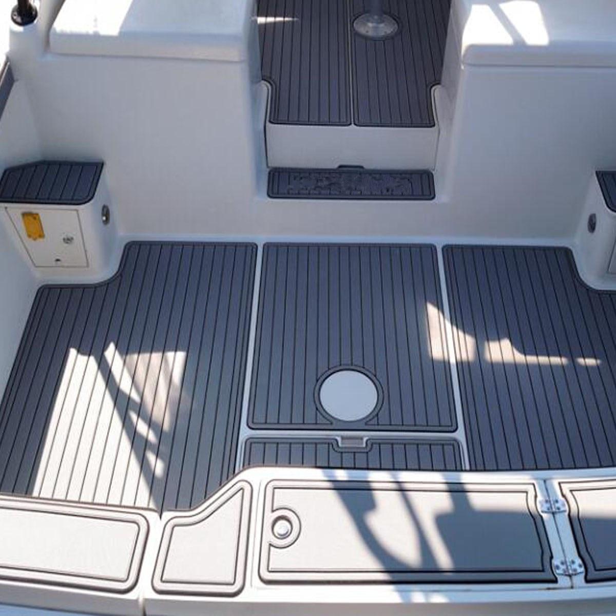 Auto-adhésif 2300x900x6mm mousse teck platelage EVA mousse Marine plancher Faux teck bateau Yacht accessoires