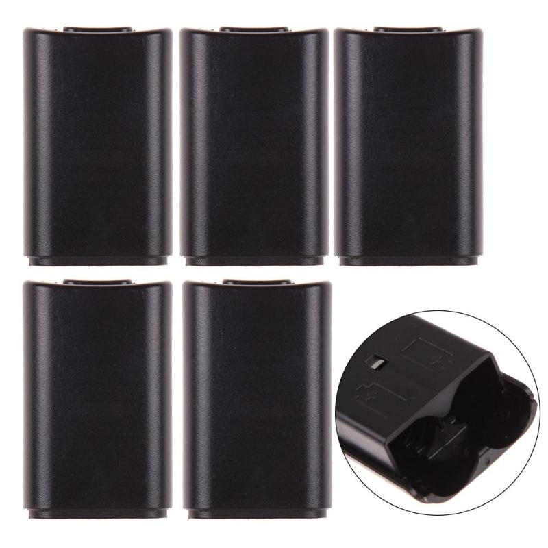 5pcs Game Controller AA Battery Back Cover Pack Case Wireless Gaming Console Replacement Parts For Microsoft XBOX 360 Gamepad