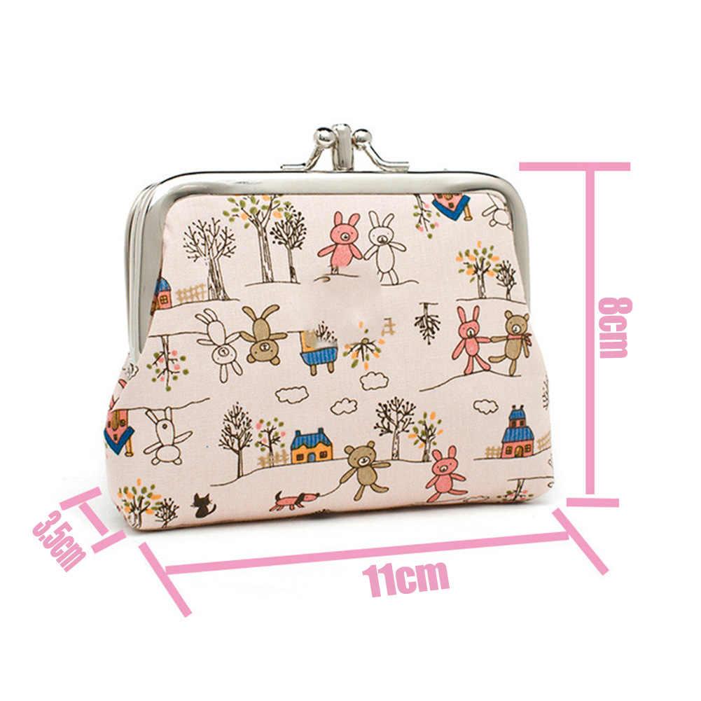 نساء ألبكة مطبوعة محفظة نسائية للعملات المعدنية بنات حقيبة صغيرة أزهار لطيفة حافظة نقود مطبوعة حقيبة صغيرة للسيدات حقيبة المال محفظة أطفال