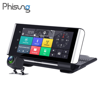Phisung 7inch 4G ADAS GPS Navigation Car dvr camera FHD 1080P dash cam android WIFI driving recorder dual dvr auto for truck image
