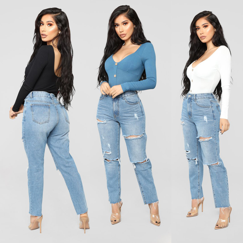 Casual Women Ladies Bodysuit Stretch Leotard Long Sleeve Button Backless V Neck Jumpsuit Body Tops
