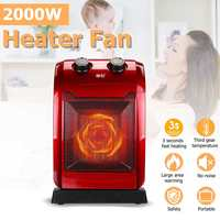 2KW 220V Electric Air Heating Oscillating PTC Ceramic Heater Fan Warmer Fan for Home Room Bathroom Office