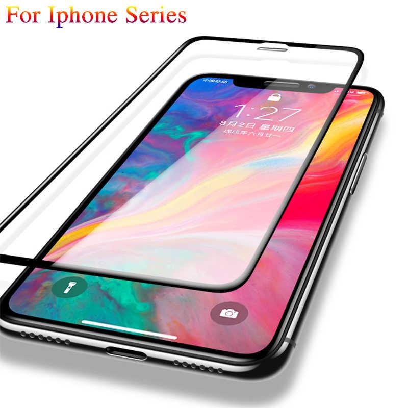 9D מגן זכוכית עבור Iphone X XS מקס מזג זכוכית על עבור Iphone 7 8 בתוספת 6 בתוספת XR מלא כיסוי זכוכית מסך מגן סרט