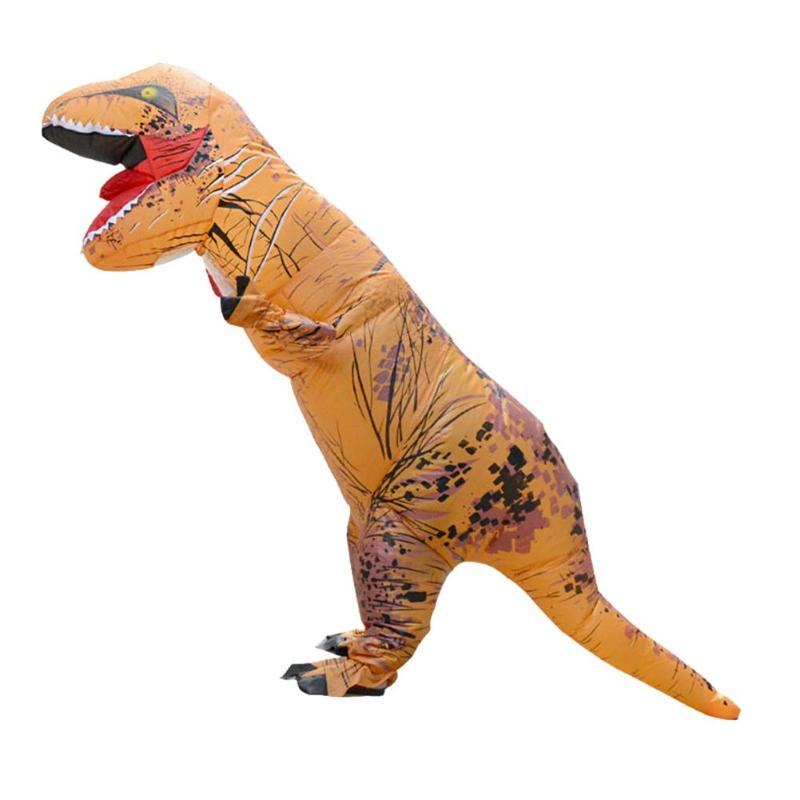Costume Props Good Adult T-rex Inflatable Costume Christmas Cosplay Dinosaur Animal Jumpsuit Halloween Costume For Women Men To Win Warm Praise From Customers