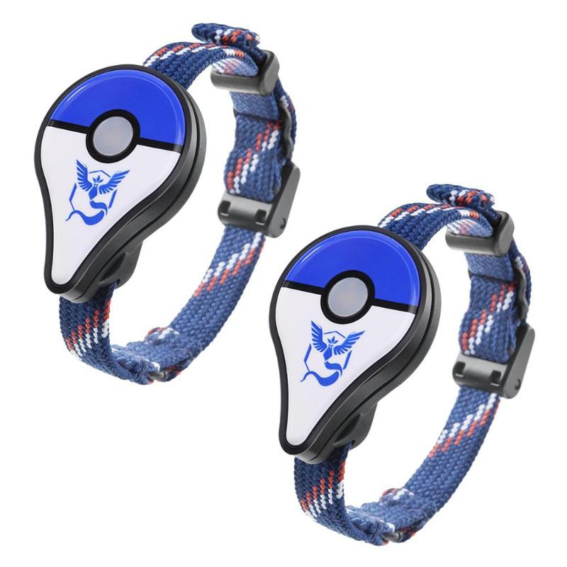 2Pcs Bluetooth Wristband Bracelet Watch Game Accessory for Nintendo for Pokemon GO Plus Smart Wristband For