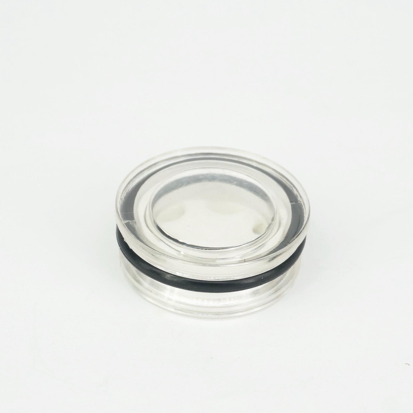 6 piezas de plástico transparente cabeza hexagonal Rosca 20mm Compresor de aire de nivel de aceite mirilla