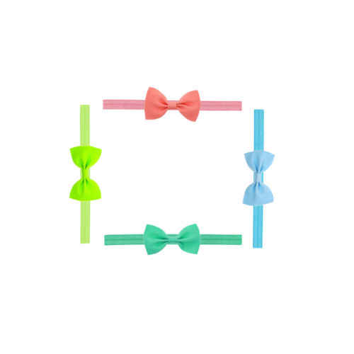 Mini Bowknot Hairband เด็กเด็กผู้หญิง Headband วันเกิดของขวัญ bow headband ดูแลเด็กน่ารักเด็ก Elastic Turban