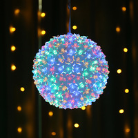 LED Magic Color Cherry Blossom Spheroid Flashing String Peach Ball Ceiling Christmas Festival Party Sign Decorati