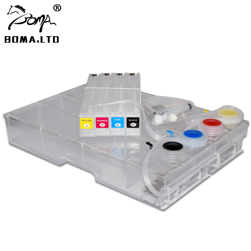 Empty 980XL Continuous Ink Supply System For <font><b>HP</b></font> <font><b>980</b></font> HP980 Ciss With ARC Chip For <font><b>HP</b></font> Officejet 555xh 555dn 585dn 585f 585z image