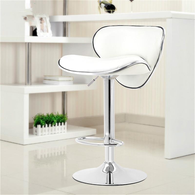 High Quality Ergonomic Lift Rotating Bar Stools Adjustable Pub Bar Stool Chair PU Material Footrest Cadeira Tabouret De Bar