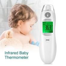 57d2d7436 Testa e Orelha Termômetro Digital do bebê Termômetro Infravermelho Distante  Corpo Do Medidor de Medição Febre para o Bebê Infant.
