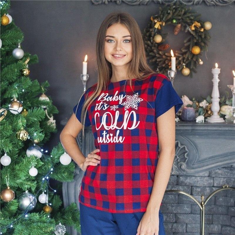 T Shirt women KAFTAN Hello Winter red., p-p 40-42, 100% CHL t shirt women kaftan christmas size red p p 52