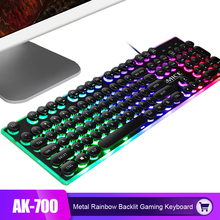 цена iMice Gaming Keyboard Steam Punk 104 Keys Rainbow Backlit Keyboards USB Wired Waterproof Mechanical Feeling Gamer Keyboard в интернет-магазинах
