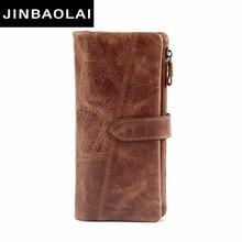 Rushed 2018 Men Wallet Clutch Genuine Leather Brand Rfid Wallet Male Organizer Cell Phone Clutch Bag Long Coin Purse Carteras недорого