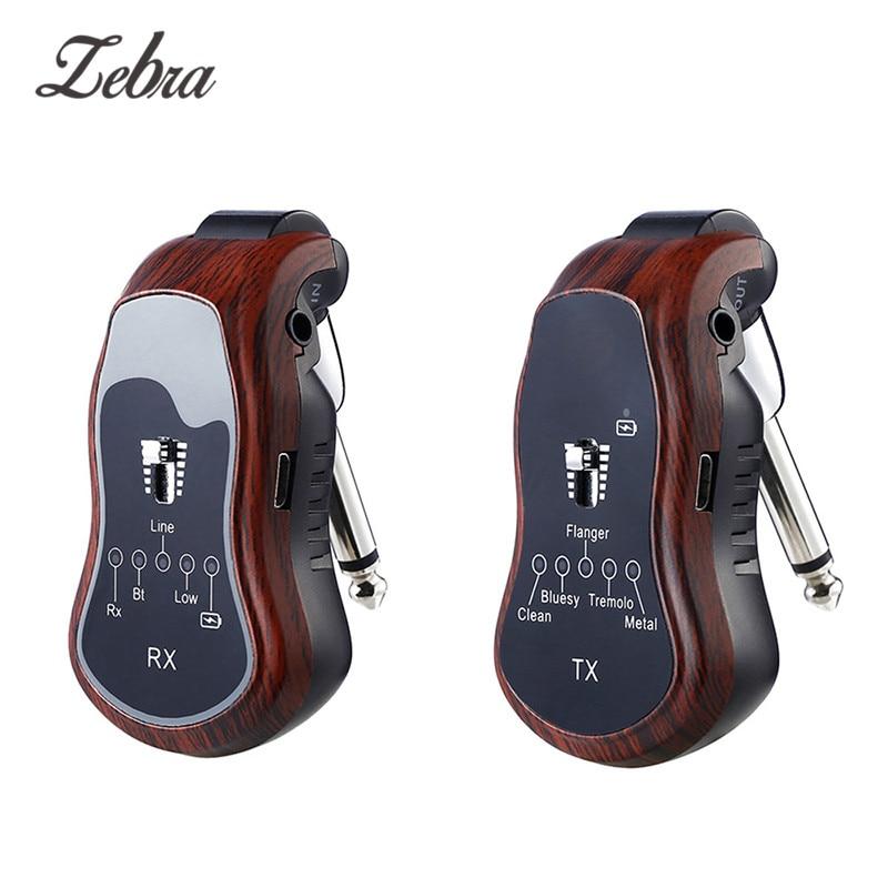 Système de guitare sans fil transmetteur et récepteur intégré Rechargeable 5 In1 effets de guitare sans fil Bluetooth pour guitares électriques